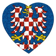 Flag of Moravia Jigsaw Puzzle (Heart)