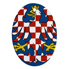 Flag of Moravia Oval Ornament (Two Sides)