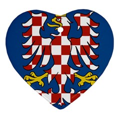 Flag of Moravia Heart Ornament (Two Sides)