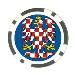 Flag of Moravia Poker Chip Card Guard (10 pack)