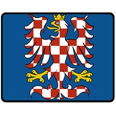 Flag of Moravia Fleece Blanket (Medium)