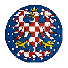 Flag of Moravia Round Filigree Ornament (Two Sides)