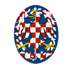 Flag of Moravia Oval Filigree Ornament (Two Sides)