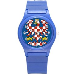 Flag of Moravia Round Plastic Sport Watch (S)