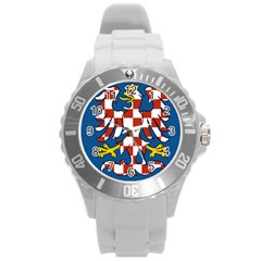 Flag of Moravia Round Plastic Sport Watch (L)