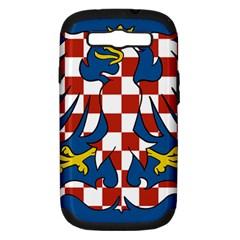 Flag of Moravia Samsung Galaxy S III Hardshell Case (PC+Silicone)
