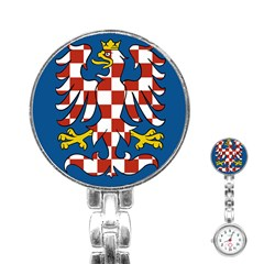 Flag of Moravia Stainless Steel Nurses Watch
