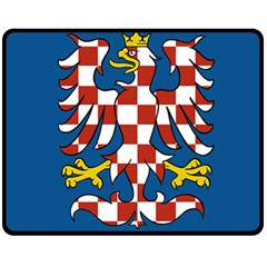 Flag of Moravia Double Sided Fleece Blanket (Medium)