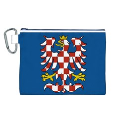 Flag of Moravia Canvas Cosmetic Bag (L)