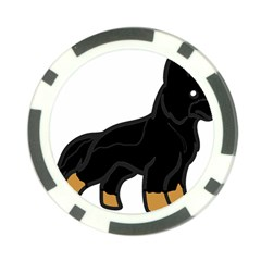 German Shepherd Cartoon Bi Color Poker Chip Card Guard (10 pack)