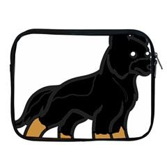 German Shepherd Cartoon Bi Color Apple iPad 2/3/4 Zipper Cases