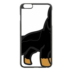 German Shepherd Cartoon Bi Color Apple iPhone 6 Plus/6S Plus Black Enamel Case