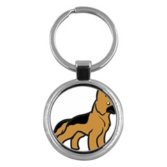 German Shepherd Cartoon Key Chains (Round)