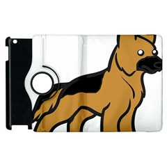 German Shepherd Cartoon Apple iPad 2 Flip 360 Case