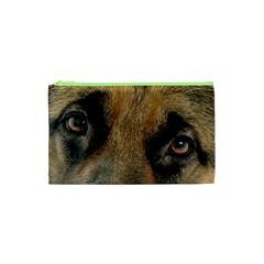 German Shepherd Eyes Cosmetic Bag (XS)