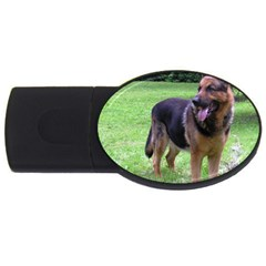 German Shepherd Full USB Flash Drive Oval (1 GB)