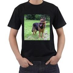 German Shepherd Full Men s T-Shirt (Black) (Two Sided)