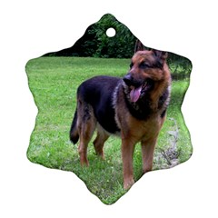 German Shepherd Full Snowflake Ornament (Two Sides)