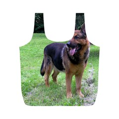 German Shepherd Full Full Print Recycle Bags (M)