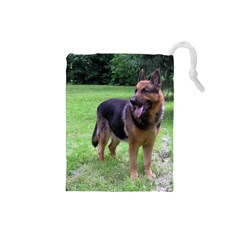 German Shepherd Full Drawstring Pouches (Small)