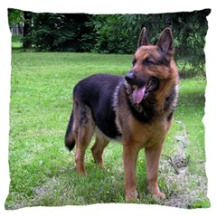 German Shepherd Full Standard Flano Cushion Case (Two Sides)
