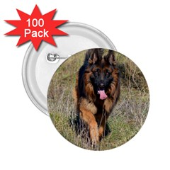 German Shepherd In Motion 2.25  Buttons (100 pack)