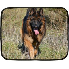 German Shepherd In Motion Fleece Blanket (Mini)