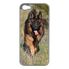 German Shepherd In Motion Apple iPhone 5 Case (Silver)