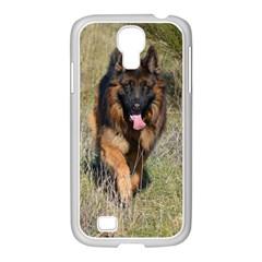 German Shepherd In Motion Samsung GALAXY S4 I9500/ I9505 Case (White)