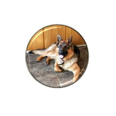 German Shepherd Laying 2 Hat Clip Ball Marker (10 pack)