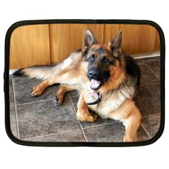 German Shepherd Laying 2 Netbook Case (Large)