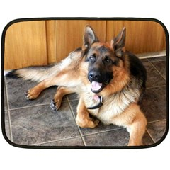 German Shepherd Laying 2 Fleece Blanket (Mini)