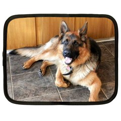 German Shepherd Laying 2 Netbook Case (XXL)