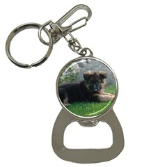 German Shepherd Puppy Laying 2 Button Necklaces