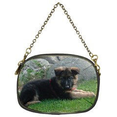 German Shepherd Puppy Laying 2 Chain Purses (One Side)