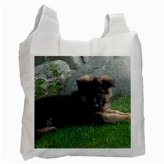 German Shepherd Puppy Laying 2 Recycle Bag (One Side)