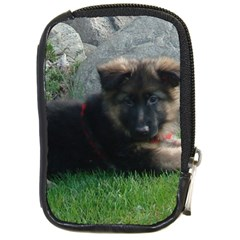 German Shepherd Puppy Laying 2 Compact Camera Cases