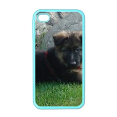 German Shepherd Puppy Laying 2 Apple iPhone 4 Case (Color)