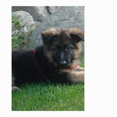 German Shepherd Puppy Laying 2 Small Garden Flag (Two Sides)