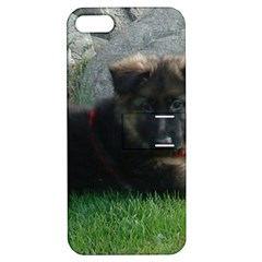 German Shepherd Puppy Laying 2 Apple iPhone 5 Hardshell Case with Stand