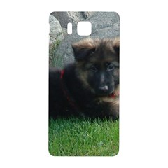 German Shepherd Puppy Laying 2 Samsung Galaxy Alpha Hardshell Back Case
