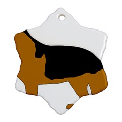 German Shepherd Silo Ornament (Snowflake)