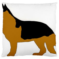 German Shepherd Silo Large Cushion Case (One Side)