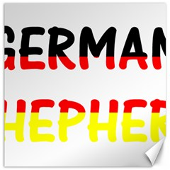 German Shepherd Name In Flag Canvas 20  x 20