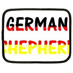 German Shepherd Name In Flag Netbook Case (XL)