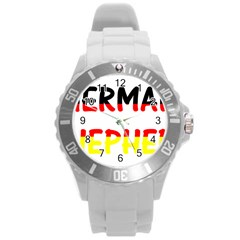 German Shepherd Name In Flag Round Plastic Sport Watch (L)