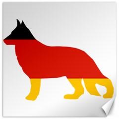German Shepherd Flag Silo Germany Flag Canvas 16  x 16