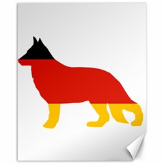 German Shepherd Flag Silo Germany Flag Canvas 16  x 20