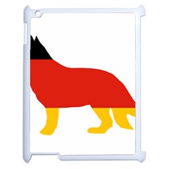 German Shepherd Flag Silo Germany Flag Apple iPad 2 Case (White)