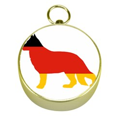 German Shepherd Flag Silo Germany Flag Gold Compasses